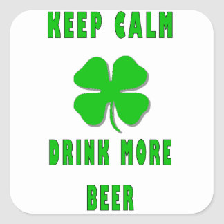 Keep Calm Drink More Beer Stickers