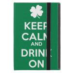 Keep Calm Drink On Shamrock  St Patricks Day iPad Mini Case