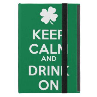 Keep Calm Drink On Shamrock  St Patricks Day iPad Mini Cover