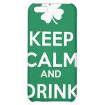 Keep Calm Drink On Shamrock  St Patricks Day iPhone 5C Cases
