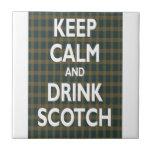 Keep Calm & Drink Scotch Tiles