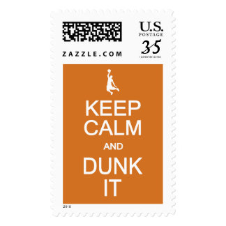 Keep Calm & Dunk It custom color stamps