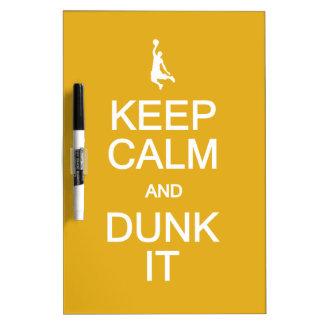 Keep Calm & Dunk It custom message boards