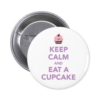 Keep Calm & Eat A Cupcake Button