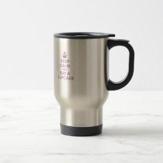 Keep Calm & Eat A Cupcake Stainless Steel Travel Mug