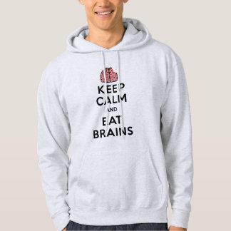 Keep Calm Eat Brains Hoodie