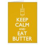 Keep Calm Eat Butter Cards