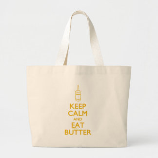 Keep Calm Eat Butter Large Tote Bag