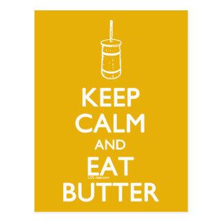 Keep Calm Eat Butter Postcard