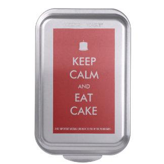 Keep Calm & Eat Cake Customizable Baked Goods Cake Pan