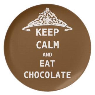 KEEP CALM  EAT  CHOCOLATE Plate