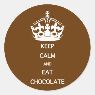 KEEP CALM  EAT  CHOCOLATE STICKER