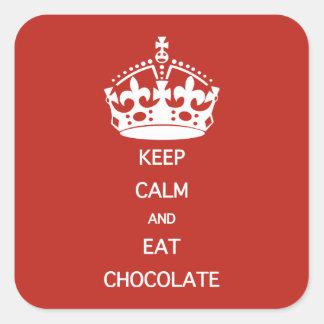 KEEP CALM  EAT  CHOCOLATE STICKERS
