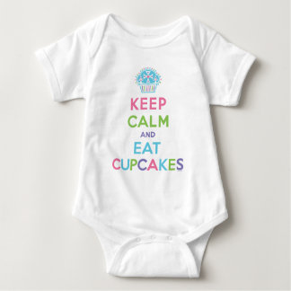Keep Calm & Eat  Cupcakes - baby Baby Bodysuit