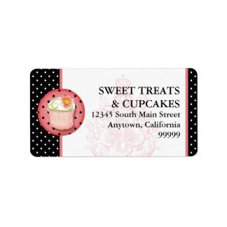 Keep Calm Eat Cupcakes Bakery Business Address Custom Address Label