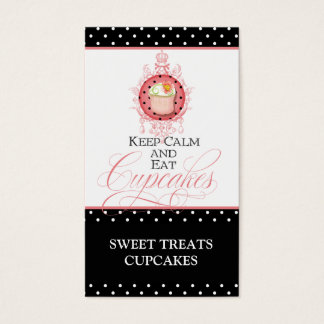 Keep Calm & Eat Cupcakes - Bakery Business Cards