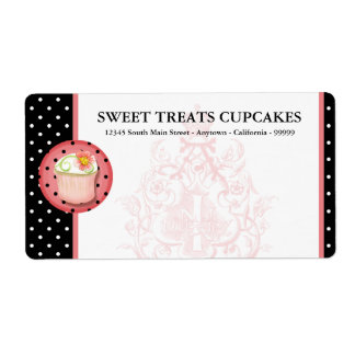 Keep Calm & Eat Cupcakes Bakery Business Shipping Label