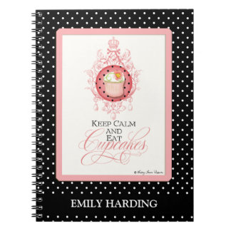 Keep Calm & Eat Cupcakes - Fashion Trendy Chic Note Book