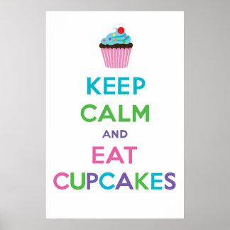 Keep Calm & Eat Cupcakes ll Poster