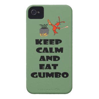 Keep Calm Eat Gumbo iPhone4 Case