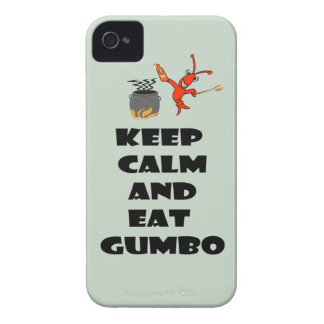 Keep Calm Eat Gumbo iPhone4 Case (sage)