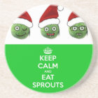 Keep Calm & Eat Sprouts Coaster