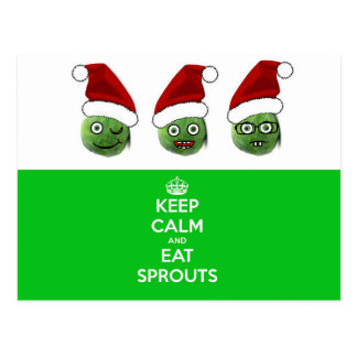 Keep Calm & Eat Sprouts Postcard