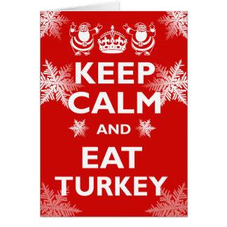 Keep Calm & Eat Turkey Card