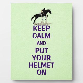 Keep Calm Equestrian Horse Plaques