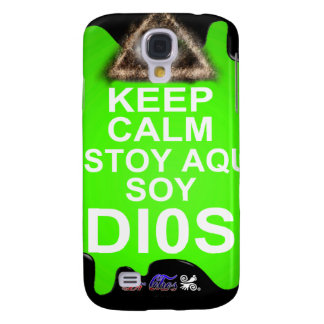 KEEP CALM ESTOY AQUI SOY DIOS CUSTOMIZABLE GALAXY S4 COVER