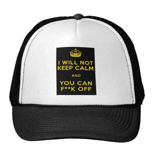 KEEP CALM F OFF TRUCKER HAT