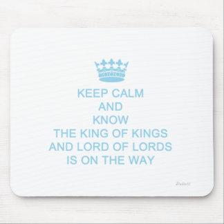 Keep Calm Faith and Motivational Mouse Pad