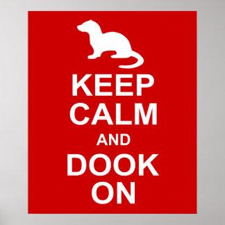 Keep Calm Ferret Poster