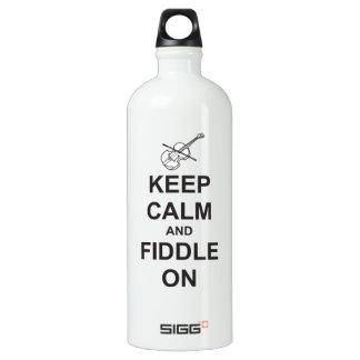 Keep Calm & Fiddle On Aluminum Water Bottle