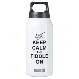 Keep Calm & Fiddle On Insulated Water Bottle