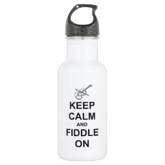 Keep Calm & Fiddle On Water Bottle