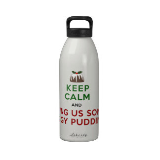 Keep Calm Figgy Pudding Drinking Bottle