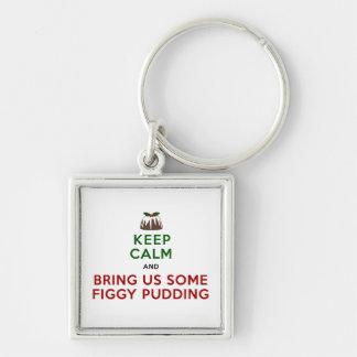 Keep Calm Figgy Pudding Keychain