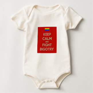 keep calm fight bigotry baby bodysuit