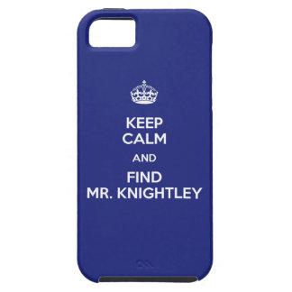 Keep Calm Find Mr. Knightley Emma Jane Austen iPhone SE/5/5s Case