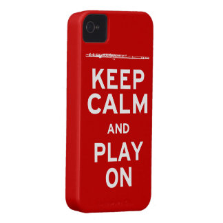 Keep Calm Flute iPhone 4 Case