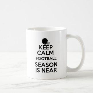 Keep Calm, Football Season is Near! Coffee Mug