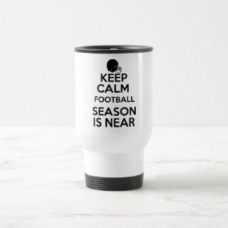 Keep Calm, Football Season is Near! Travel Mug