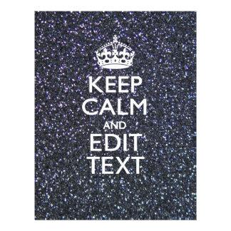 Keep Calm for Your Text on Midnight Style Letterhead