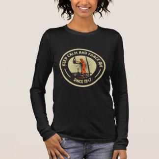 Keep Calm & Frack On. Since 1947.  (Black) Long Sleeve T-Shirt