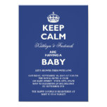 Keep Calm Funny Couples Baby Shower Party Invite Custom Invitation