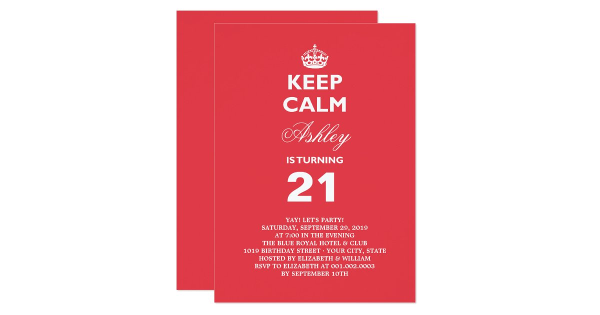 Funny 21st Birthday Invitations Announcements – Funny 21st Birthday Cards
