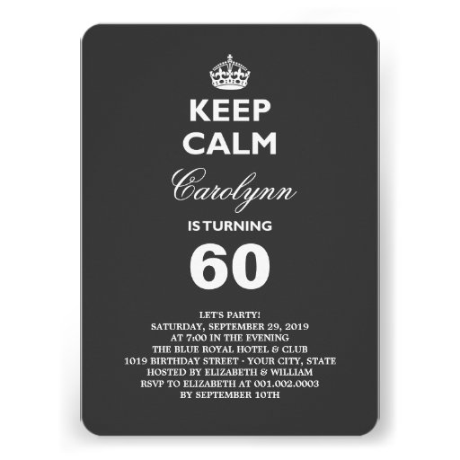 1,000+ Funny 60th Birthday Invitations, Funny 60th Birthday Announcements & Invites