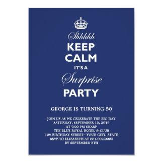 Keep Calm Funny Milestone Surprise Birthday Party Card