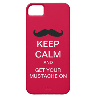 Keep Calm Funny Mustache iPhone 5 Case